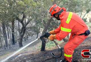 Corpo Forestale - Incendio a Piraino