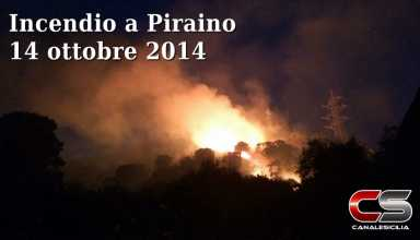 Incendio a Piraino