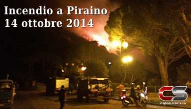 Incendio a Piraino ore 22:10
