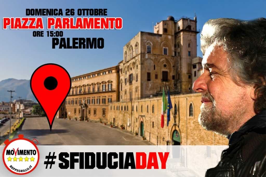 #SfiduciaDay in Piazza del Parlamento