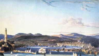 Genova 1810ca Acquatinta Garneray