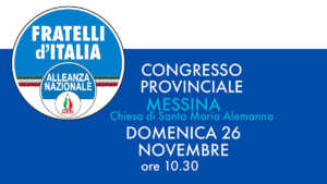 Congresso Messina Fratelli d'Italia